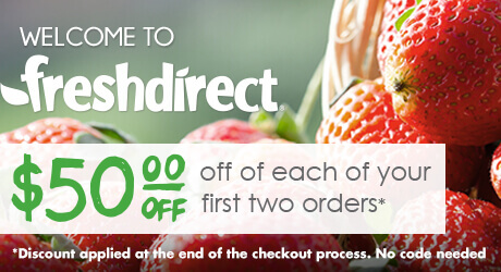 FreshDirect $50 Off 2 orders