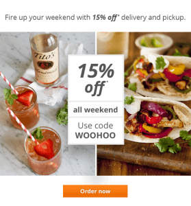 delivery.com 15% off woohoo