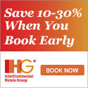 IHG Save 10-30 Percent when you Book Early