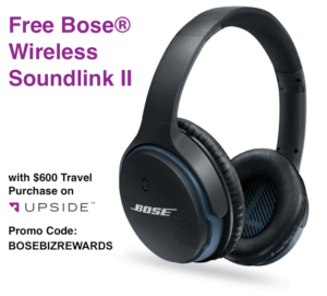Free Bose Upside Promotion BOSEBIZREWARDS
